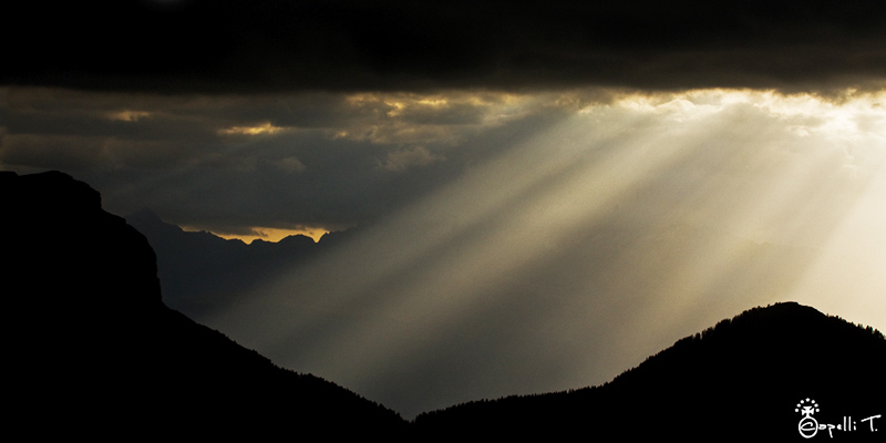 Rayons de soleil au col du coq