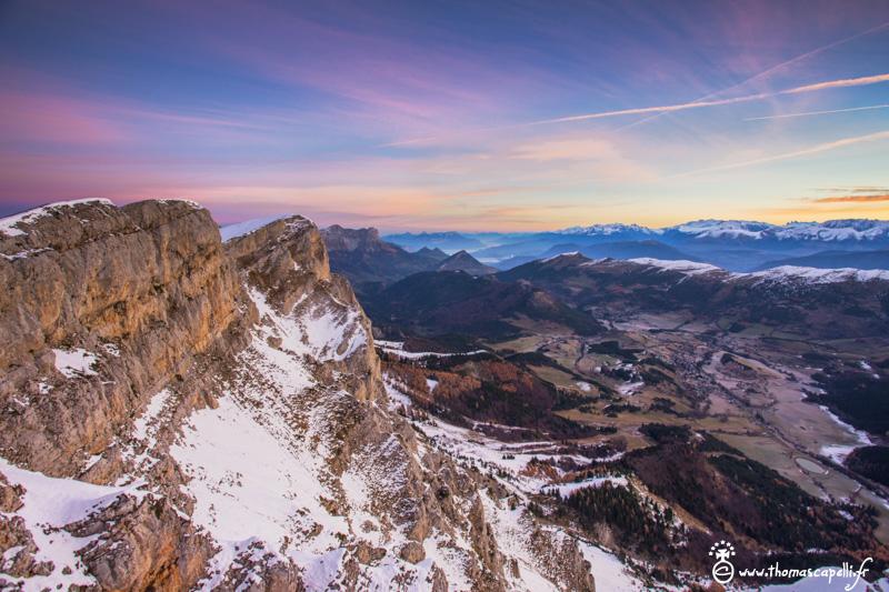 Vue sur Gresse en vercors depuis le sommet de pierre blanche - Thomas Capelli