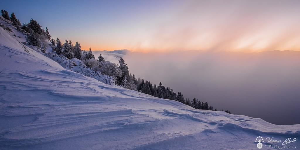 lever du soleil au charmant som en hiver  - Thomas Capelli