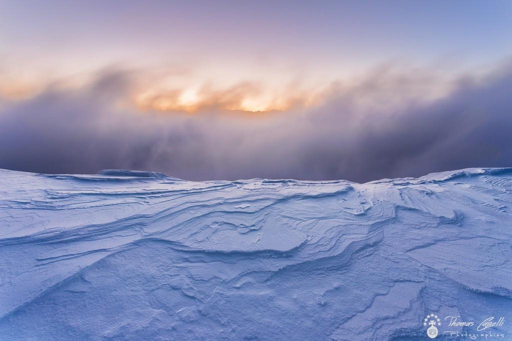 sculptures sur la neige en  chartreuse  - Thomas Capelli