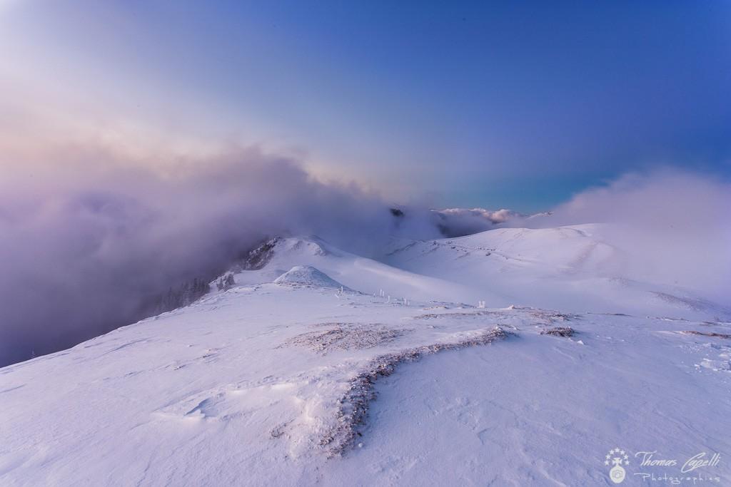 lever de soleil au charmant som avec une mer de nuages  - Thomas Capelli