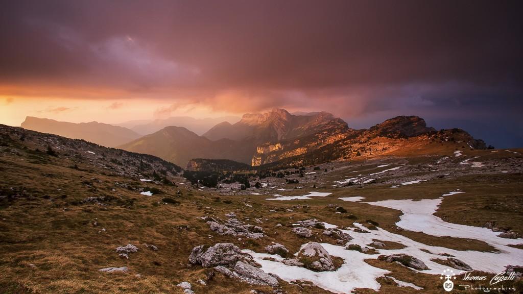 Hauts plateaux de chartreuse, coucher de soleil  - Thomas Capelli