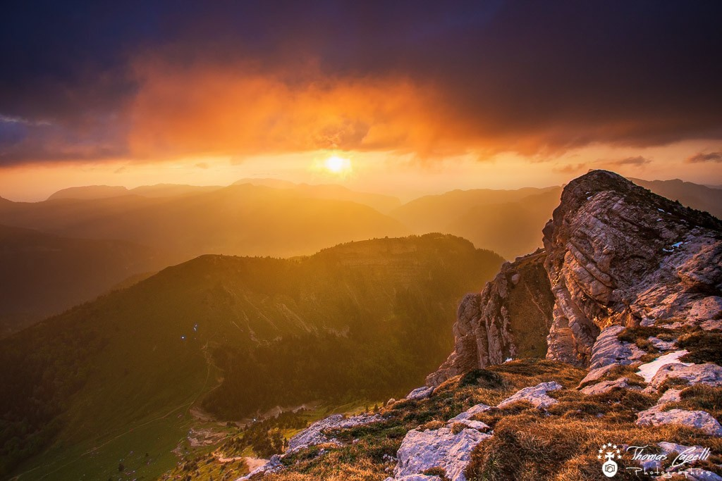 Coucher soleil Dent de Crolles  - Thomas Capelli