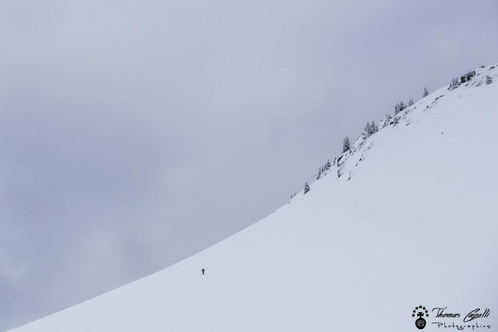 le skieur et la montagne - Thomas Capelli