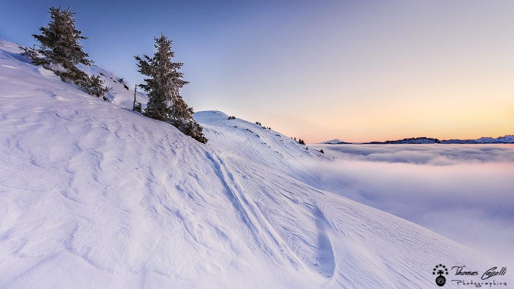 Mer de nuages au charmant som face au mont blanc - Thomas Capelli