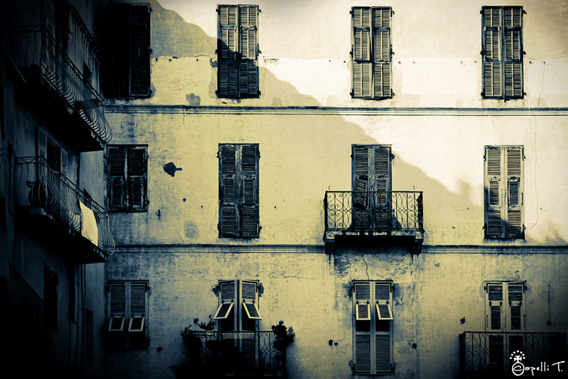 photographie des balcons de bonifacio